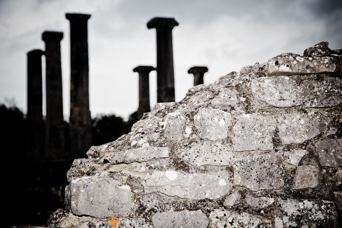 Altilia, Sepino, CB Ancient Ancient Civilization Architectural Column Architecture Built Structure Close-up Cloud - Sky Day Focus On Foreground History Nature No People Old Ruin Outdoors Rock - Object Sky Travel Destinations