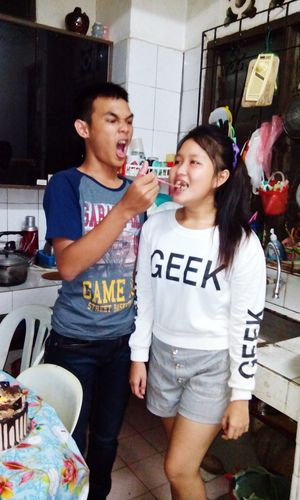 With mu cousin :) her brithday yesterday ;)