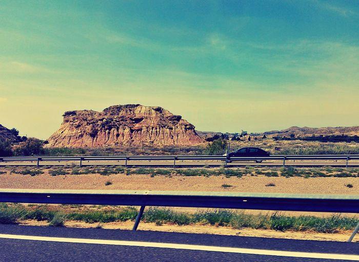 Country Road Car Trip Road Trip Crash Barrier Transportation Dividing Line Rock Formation Spain Is Different SPAIN Landscape