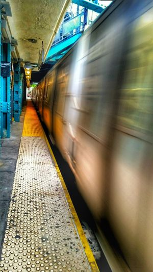 -Motion- Subway Moving Train Metro New York Public Transport New York City Cortelyou Subway Station Cortelyou Blurred Motion First Eyeem Photo The Street Photographer - 2016 EyeEm Awards My Commute Need For Speed Adventures In The City