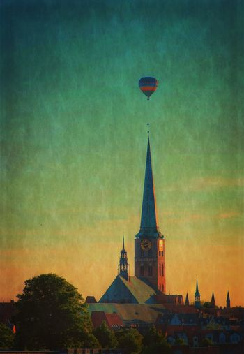 Architecture Ballon Balloon Building Exterior Built Structure Cathedral Church Church Tower City Heißluftballon Historical Building History Hot Air Balloon Kirche Kirchturm Lübeck, Germany Nature Outdoors Place Of Worship Religion Sky Spirituality Sunset Weltkulturerbe World Heritage