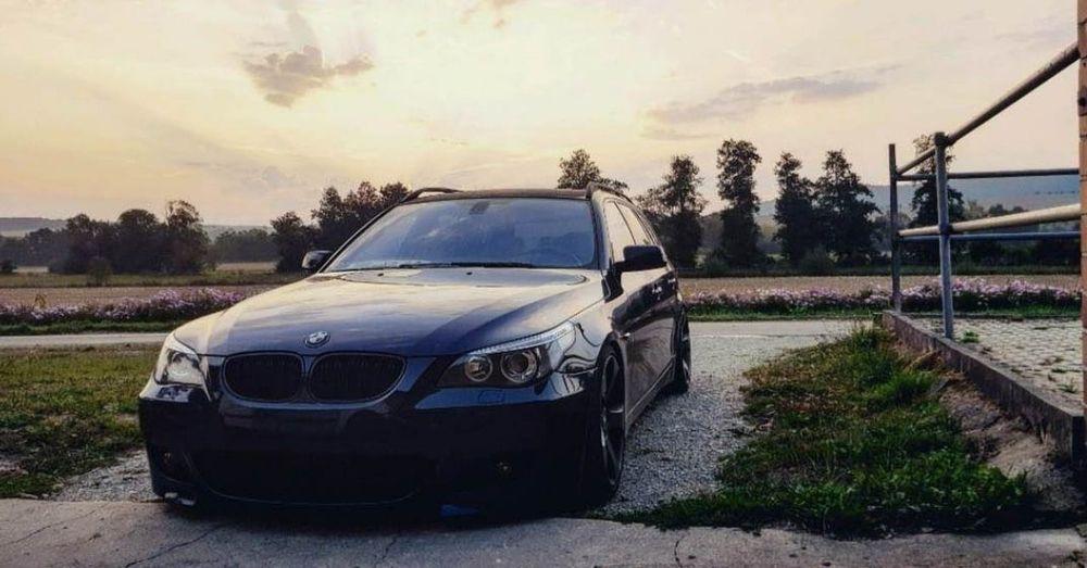 BMW E61 M-Performance Automotive Photography Ebdesignz Photoshoot Siegen BlackBeauty Böse Bmw E61 MPerformance 530d Car Luxury Car Sky Parking Car Point Of View Land Vehicle First Eyeem Photo