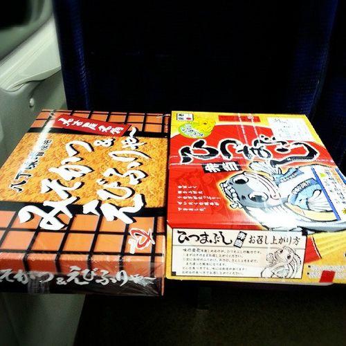 駅弁 3つ目 みそかつ ひつまぶし Shinkansen stationJapanesefood おみやげSouvenir