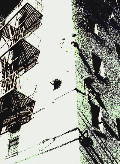 Perspective Old Building  Building Cornerarchitecture Corner Fireescape Fire Escape Camera Surveillance Surveillance Under Surveillance