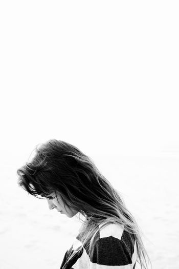 Grace The Portraitist - 2018 EyeEm Awards Beauty Blackandwhite Hairstyle Leisure Activity Lifestyles Monochrome One Person Outdoors Photography Portrait Portraiture Real People Sky