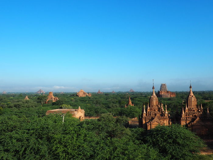 Panoramic view of landscape against clear sky