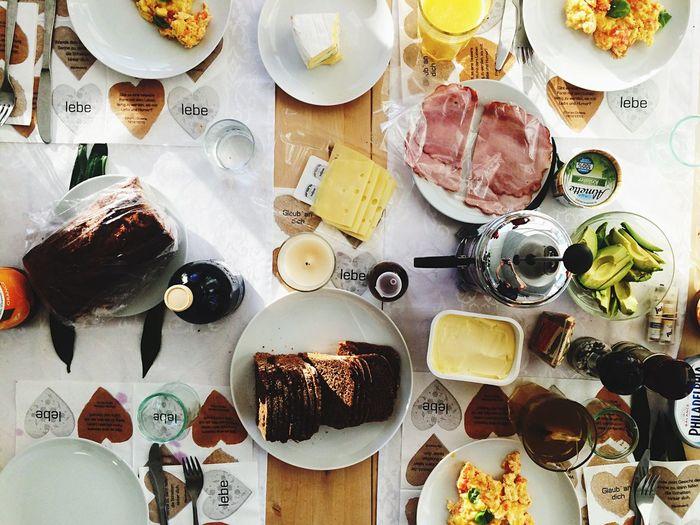 Feast Breakfast High Angle View