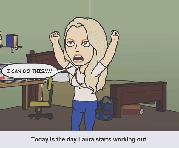 Bitstrips Working Out Icandothis
