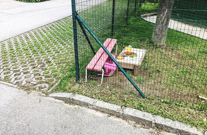 Well Organised Playground Behind The Fence... Melancholic Cityscapes Lonely Place  Scenery Shots Where Are The Children? Austrian Streetphotography Sunday Afternoon Details From My Point Of View Walking Around Taking Pictures The Great Outdoors With Adobe