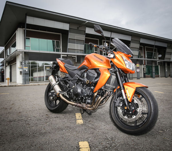 Kawasaki Z750  Motorcycle Transportation Biker Outdoors