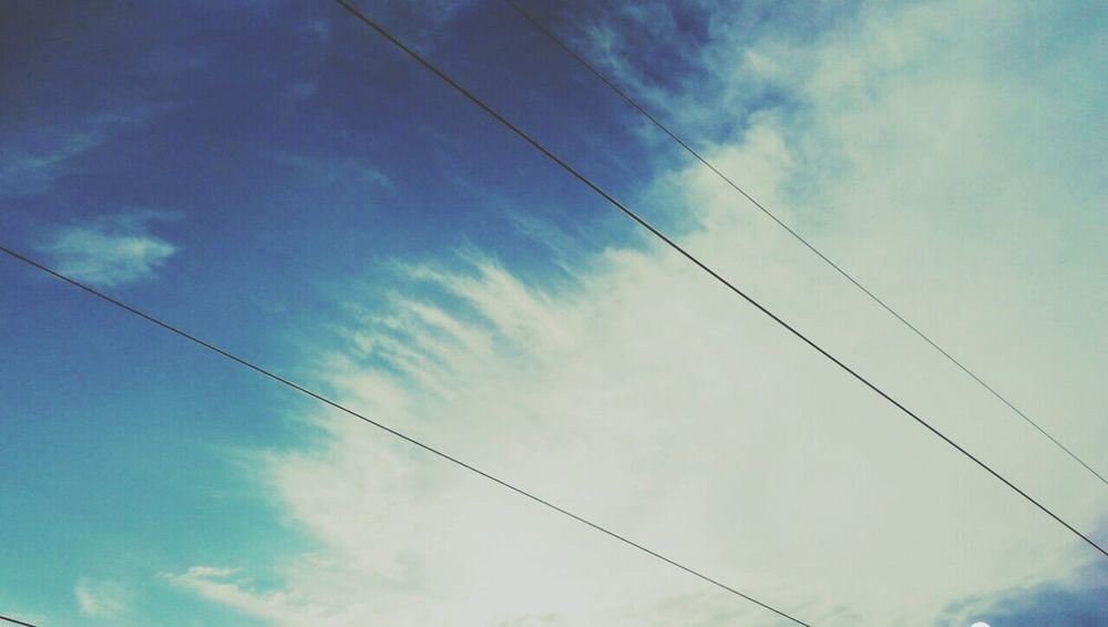 When sky fascinates u more than people around...👼 First Eyeem Photo Sky And Clouds Blue Calm And Serene