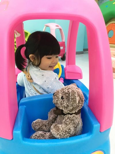 Childhood Teddy Bear Toy Real People Stuffed Toy One Person Lifestyles Cute Happiness Playing Indoors  Smiling Day People