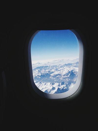 Über den Alpen Over The Mountains Alpen Alps Aircraft Window Airplaine Airplane Seat Plane