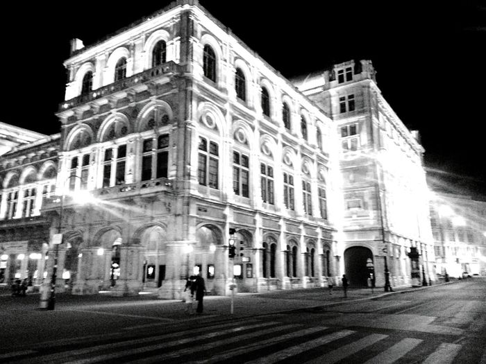 Night Night Lights Driving Around Fast Shot Bad Quality Monochrome Black And White