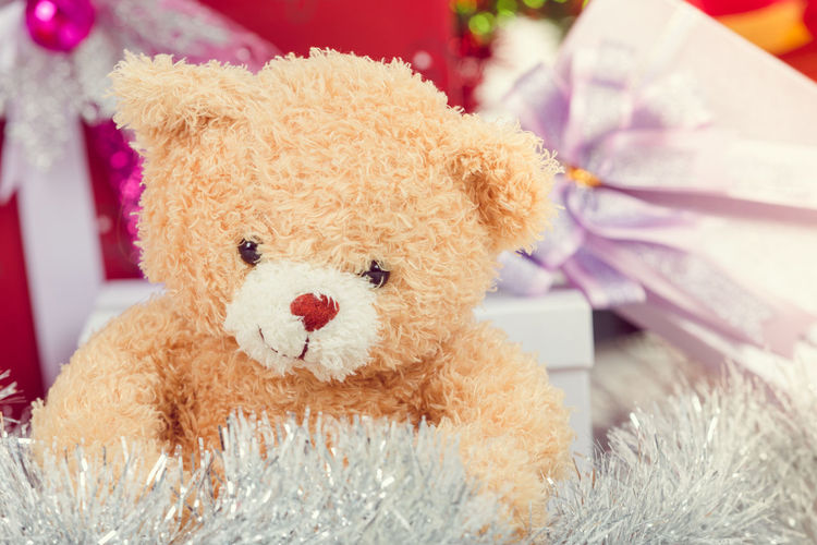 Animal Representation Art And Craft Brown Childhood Close-up Day Focus On Foreground Furniture Holiday Home Interior Indoors  Pink Color Representation Softness Still Life Stuffed Toy Teddy Bear Toy Toy Animal