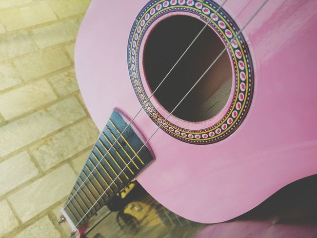 Guitar Music Instrument Pink Kids Toy Broken Whole Shapes Reflections Lines EyeEm Selects City Spiral Staircase High Angle View Close-up Architecture Colorful Color Swatch Interior Designer