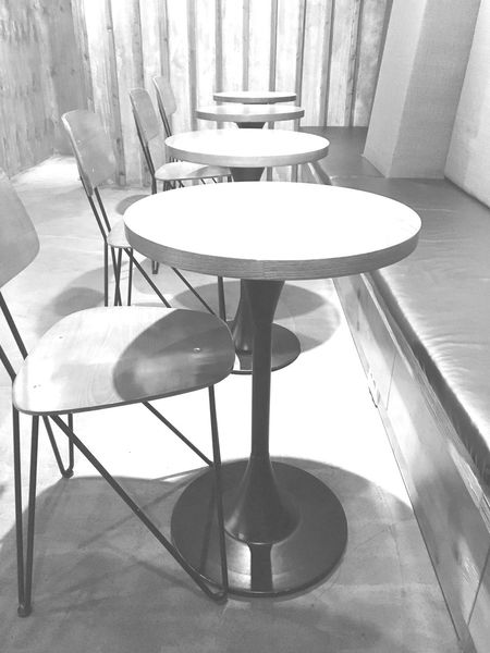 Coffee Table Chair No People Indoors  Empty Plate Day Close-up Cafe Table