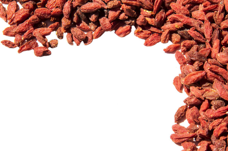 Goji Berry Abundance Clear Sky Close-up Copy Space Day Food Food And Drink Freshness Goji Gojiberries Healthy Eating No People Studio Shot White Background