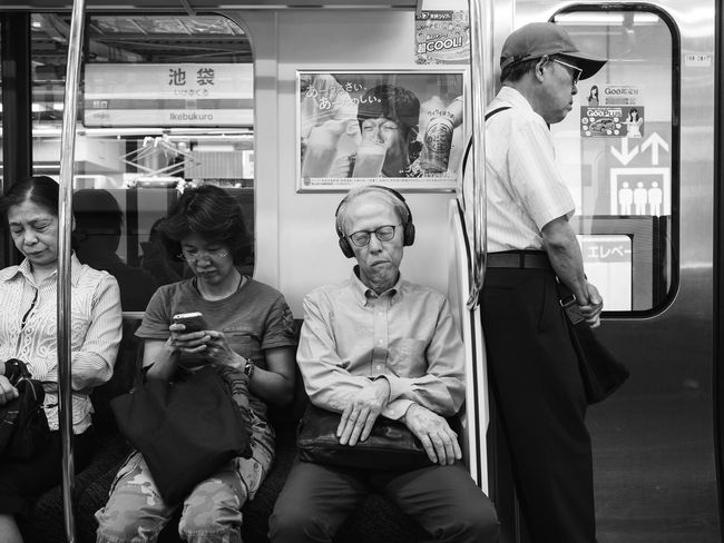 the weight of life in tokyo Japanese Style Street Photography Street Portrait Commuting Tokyo