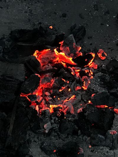 Heat - Temperature Burning High Angle View Flame No People Outdoors Close-up Day Nature