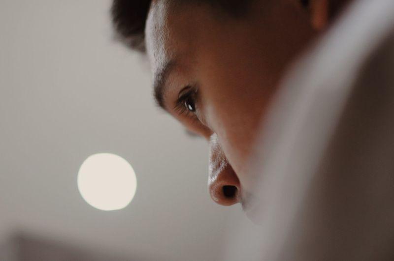 One Person Studio Shot Close-up Young Adult Headshot Indoors  Eye Eyeemphotography Human Body Part