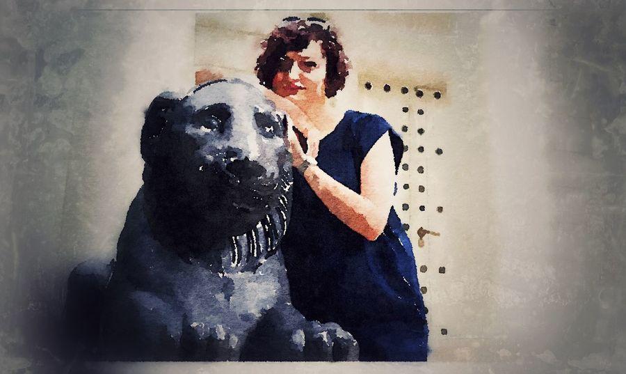 Frau mit Löwe Löwe  Frau Lion Woman Tempel Art ArtWork Aquarell Park Lazienkowski Lazienkowski Swiatynia Diany Łazienkowskiej Swiatynia Park Łazienkowski