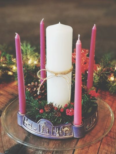 Advent candles at church Celebration Christmas No People Christmas Decoration Indoors  Close-up Day Copy Space Room For Copy Bradleywarren Photography Bradley Olson Graphic Design Candles Advent Worship Christmas Decorations Advent Season Church God Christ Christian Faith Savior Jesus Christ Jesus