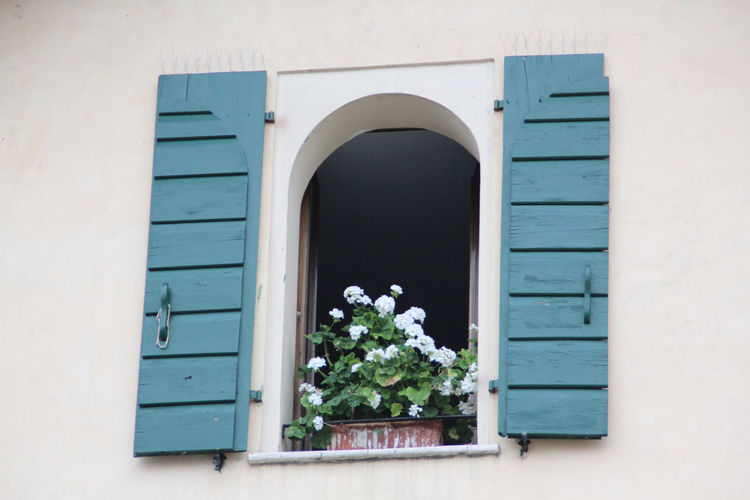 beautiful floral window Architecture Balcony Building Exterior Built Structure Façade Flowers Italy Italy❤️ Open Window Open Windows... Outdoors Residential Structure Shutters Window