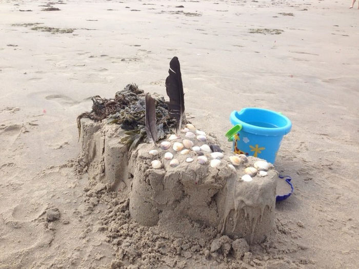 Sand castle made by my daughter and me Beach Beach Fun Childhood Kids Kids Being Kids Made By Kid Sand Sand And Beach Sandcastle