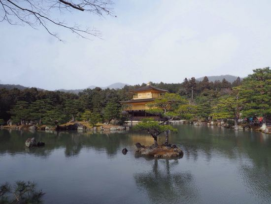 Kyoto Japan Kinkakuji Kinkakuji Temple Temple Rokuon-ji Golden Pond Winter Famous Places Olympus PEN-F 京都 日本 金閣寺 鹿苑寺 池 金 冬