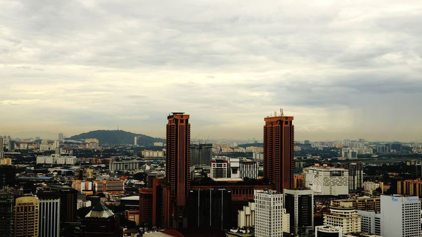 Landscape at Bukit Bintang,Kuala Lumpur EyeEm Selects Skyscraper Cityscape City Architecture Modern High Angle View Travel Destinations Urban Skyline Cloud - Sky Sky Building Exterior City Life Illuminated No People Downtown District Outdoors