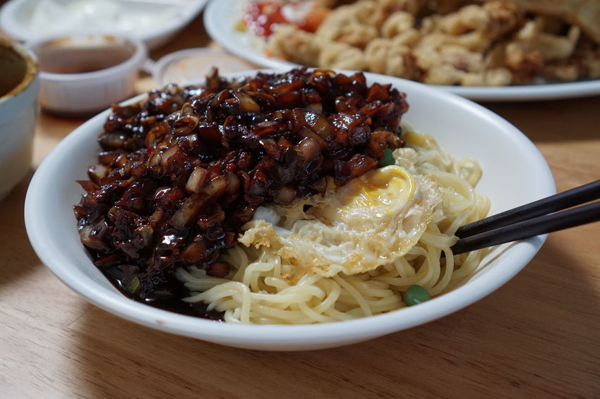 Chinese Food Delivery Korea Korea Photos Korean Food Noodles Close-up Delivery Food Food Food And Drink Foodphotography Healthy Eating Meal Pasta Plate Ready-to-eat Serving Size Sony