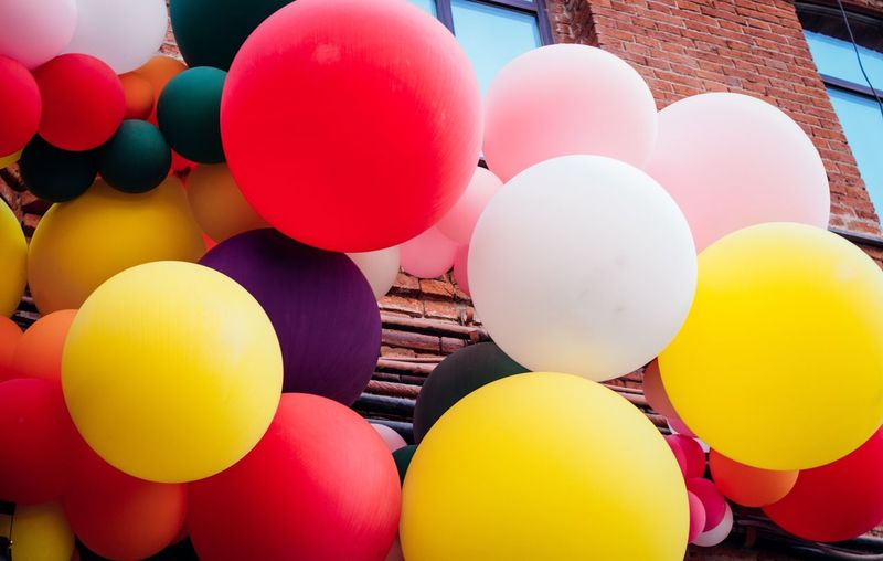Balloon Multi Colored Yellow Large Group Of Objects Helium Balloon Outdoors No People Day Close-up Sky EyeEm Streetphotography Karpetsphoto BestEyeemShots Photography EyeEm Best Shots