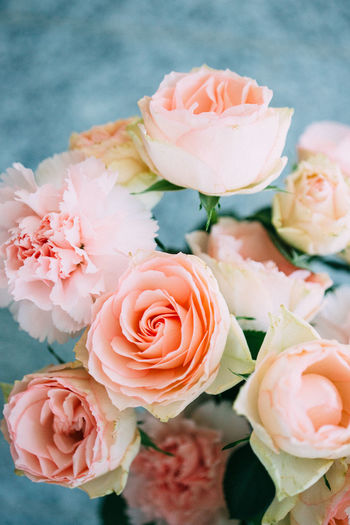 Peach coloured flowers ( carnations and roses) in a vase. Beauty In Nature Bouquet Bunch Of Flowers Carnation Close-up Decoration Detail Deutschland Flower Flower Head Flowers Fragility Freshness München Nature Peach Color Petal Pink Color Plant Romance Rosé Rose - Flower Rosé Simplicity Soft