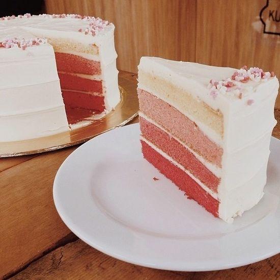 Vanilla Ombré Cake ? Food Enjoying Life Relaxing