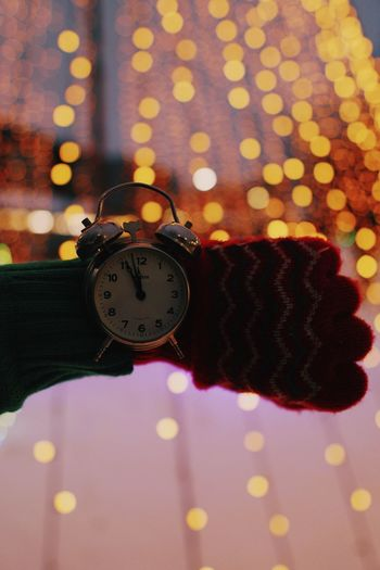 Winter Clock Hand Forest Clock Time Indoors  Alarm Clock Night Pattern Instrument Of Time Number Focus On Foreground Illuminated Circle Shape Geometric Shape Watch Still Life Close-up My Best Photo