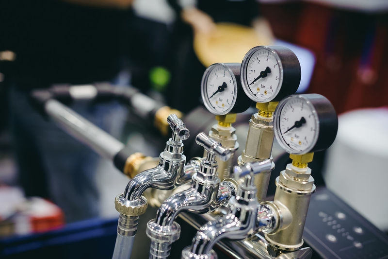 Close-up Complexity Equipment Factory Focus On Foreground Fuel And Power Generation Gauge Indoors  Industrial Equipment Industry Machine Part Machinery Manufacturing Equipment Metal No People Pipe - Tube Production Line Selective Focus Silver Colored Still Life Technology Transportation