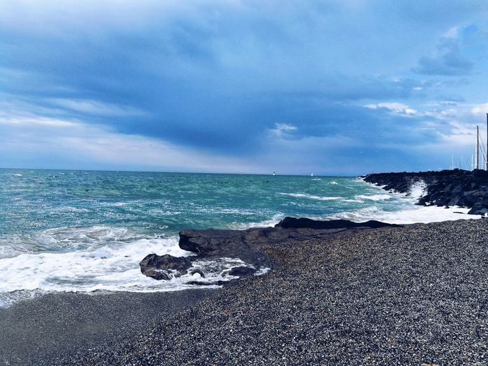 Agde France 🇫🇷 Plage Mer Wave Sea Beach Sand Sky Cloud - Sky