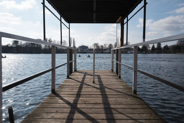 Jetty over river