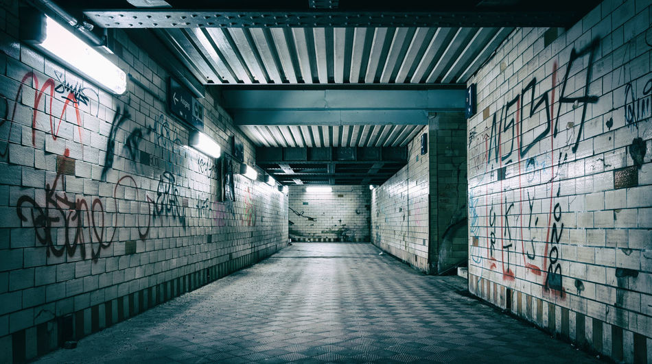 Graffiti Graffiti & Streetart Graffiti Wall Hometown Hometown Love Hometown Scenery Illuminated Indoors  Industry Long Exposure Nikon D3200 No People Prison Cell Stairs Underground Underpass UNDERPASS GRAPHITTI Underpasssubway Adventures In The City
