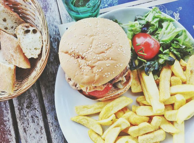 Lunch Dinner Food Delicious Fastfood Hamburger American Food French Fries Fast Food Cheese