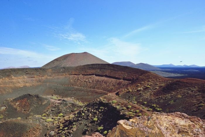 View from side of Crater - Lanzarote Tranquil Scene Tranquility Landscape Geology Beauty In Nature Scenics Nature Mountain Day Sky Outdoors No People Physical Geography Blue Arid Climate Craters Crater Volcanic Landscape Lanzarote Island Lanzarote-Canarias