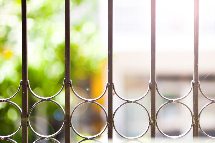 Balconies decorated beautifully with banister. Decor Iron Backgrounds Banister Close-up Day Fence Full Frame Handrail  House Metal Metallic Outdoors Prevent Style Vintage