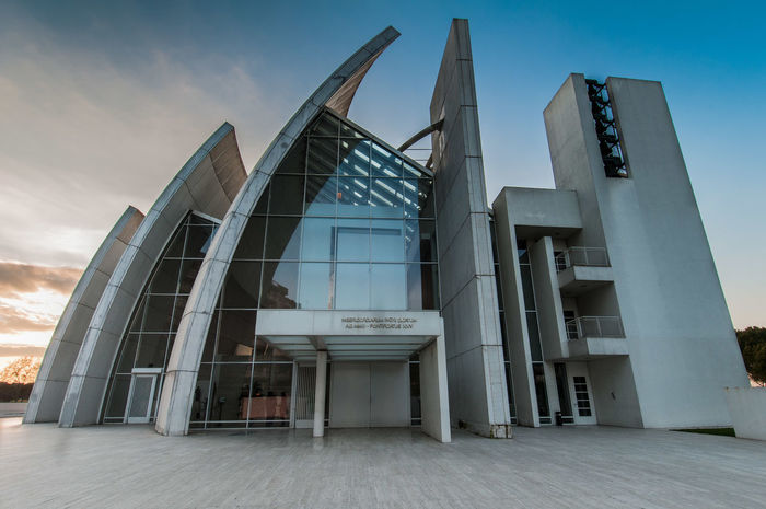 Architecture Church Curves Lines Modern Modern Architecture Roma Rome Builfing Exterior Built Structure Church Architecture Cloud - Sky Curves And Lines Lines And Shapes No People