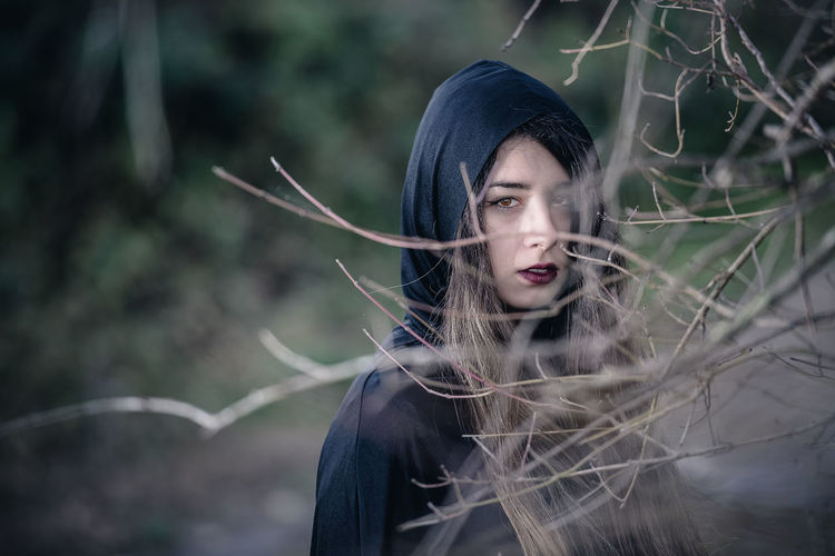 In the woods Adult Adults Only Atmospheric Mood Beautiful People Beauty Fairy Tale Fantasy Fog Forest Nature One Person One Woman Only One Young Woman Only Only Women Outdoors People Period Costume Portrait Vampire Witch Women Young Adult Young Women