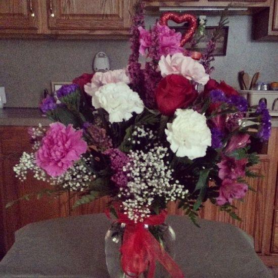 My beautiful flowers Valentines Flowers Beautiful Pretty lovethem