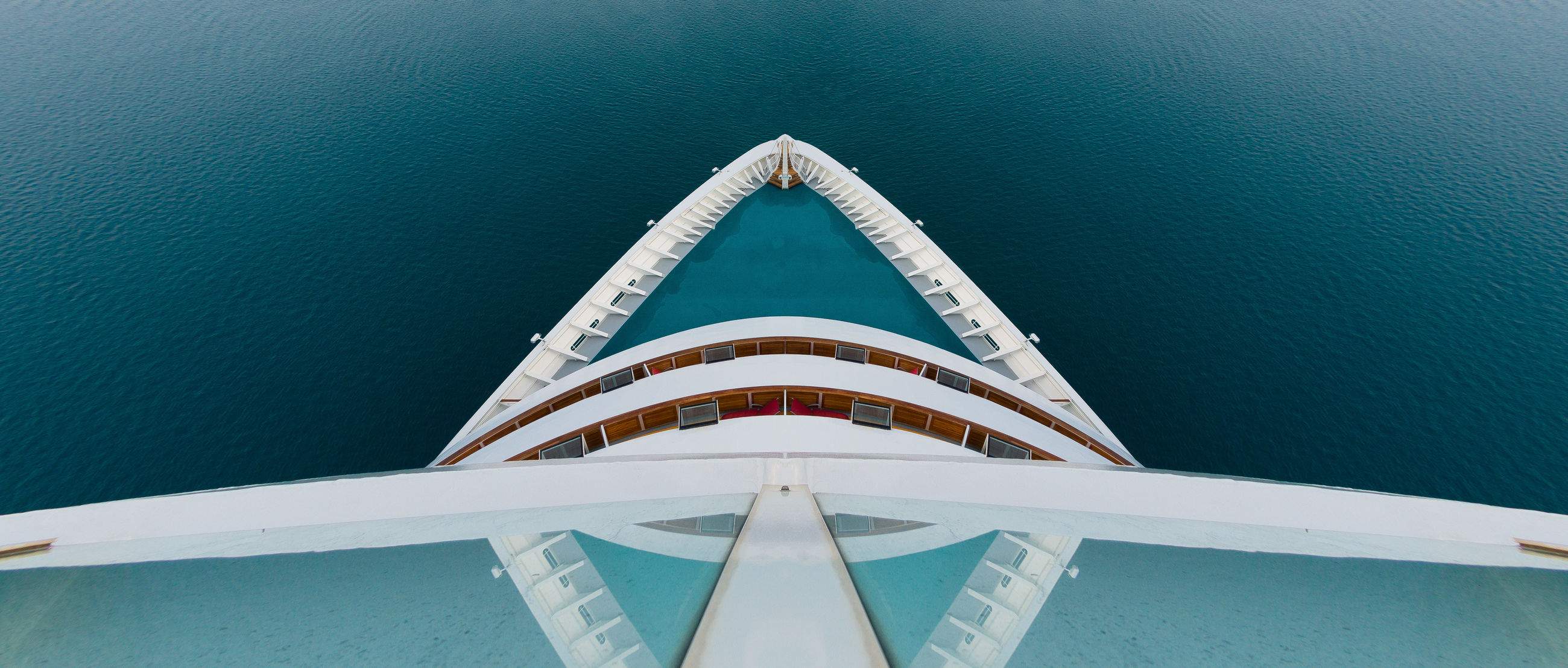 water, sea, nautical vessel, transportation, no people, day, travel, mode of transportation, nature, high angle view, sailing, outdoors, scenics - nature, travel destinations, luxury, architecture, sunlight, white color, blue, turquoise colored, yacht