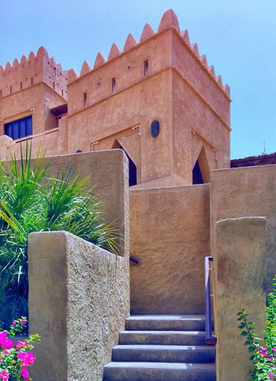 Castle Desert UAE Architecture Clear Sky Fortified Wall Outdoors