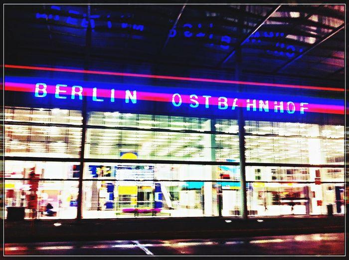 Main Entrance @ Bhf. Berlin-Ostbahnhof (S)   Street Photography at Night ➡️bei Am Ostbahnhof 9/1.03, 10243 Berlin http://goo.gl/maps/TlG56