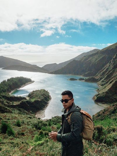 Selfportrait Personal Perspective Adventure Portugal Azores Real People Water Mountain Cloud - Sky Beauty In Nature One Person Nature Sky Scenics - Nature Leisure Activity Lifestyles Day Tranquil Scene Non-urban Scene Outdoors Tranquility Autumn Mood